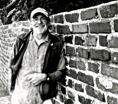 Michael Camp - Standing at the brick wall surrounding Hemingway's house